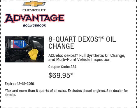 8-Quart Dexos1 Oil Change