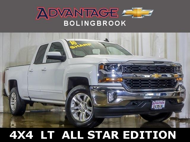 Pre-Owned 2018 Chevrolet Silverado 1500 Double Cab Standard Box 4-Wheel Drive LT