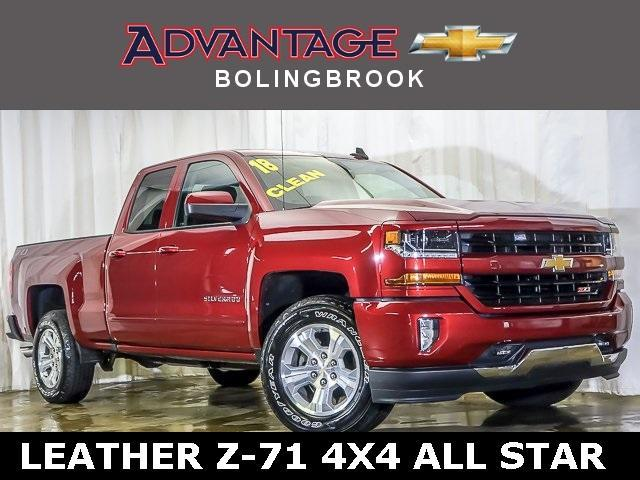 Pre-Owned 2018 Chevrolet Silverado 1500 Double Cab Standard Box 4-Wheel Drive LT Z71