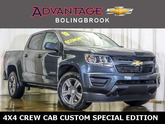 Pre-Owned 2018 Chevrolet Colorado Crew Cab Short Box 4-Wheel Drive WT