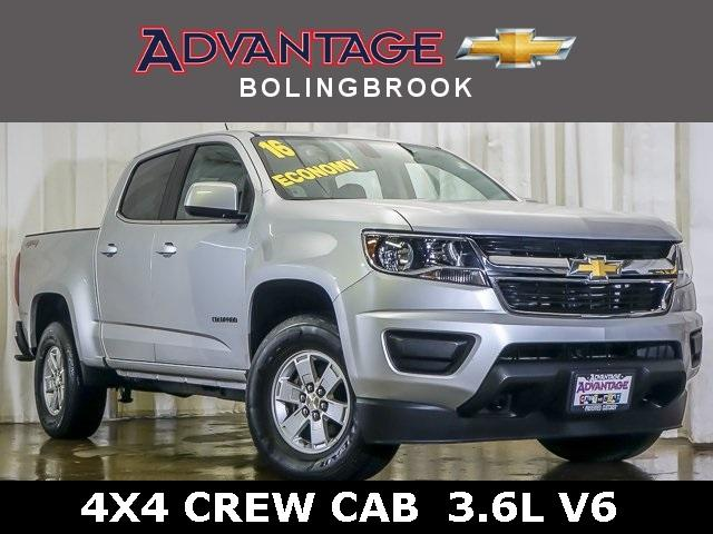 Pre-Owned 2016 Chevrolet Colorado Crew Cab Short Box 4-Wheel Drive WT