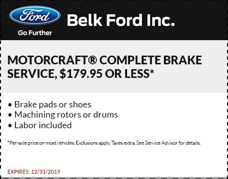 Motorcraft Complete Brake Service